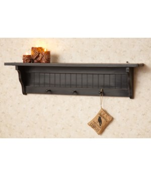 Shelf - 3 Hooks, Black