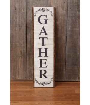 Sign - Gather 46.5 in. x 12.5 in.