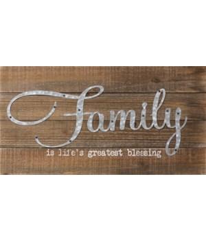Sign - Family 10 in. x 19 in.