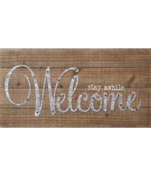 Sign - Welcome 10 in. x 19 in.