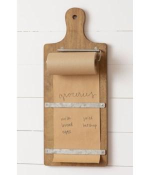 Cutting Board - Paper Holder