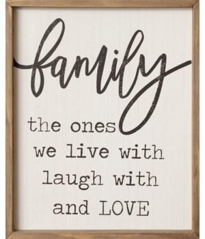 Sign - Family 19.5 in. x 16 in.