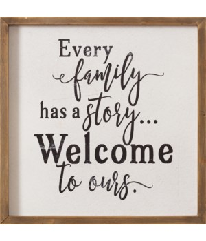 Sign - Every Family Has A Story 12 in. x 12 in.