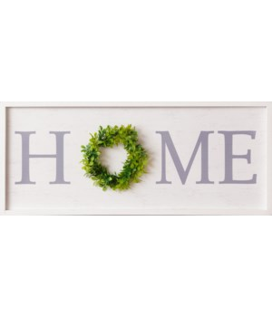 Sign - Home Wreath