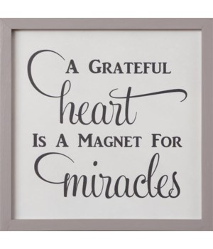 Sign - A Greatful Heart 14 in. x 14 in.