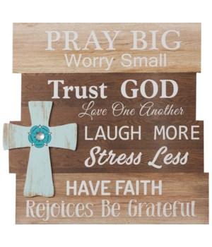 Sign - Pray Big 18 in. x 17 in.