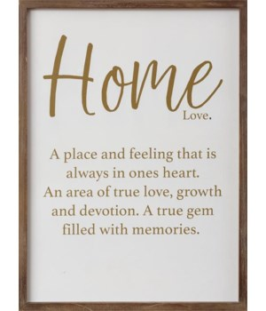 Sign - Home Filled with Memories 19 in. x 14 in.