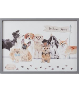 Playful Pups - Welcome Home Sign 14 in. x 20 in.