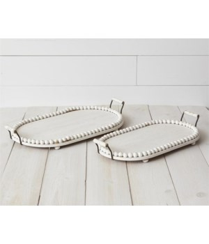 Trays - Oval With Beading