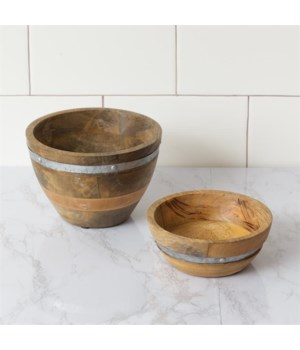 Bowls - Wood with Metal Embellishment