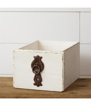 Drawer - Distressed with Antiqued Handle 6 in. x 8 in. x 10 in.