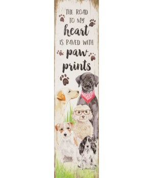 Reversible Sign - Our Cats, Dog Paw Prints