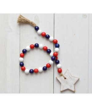 Farmhouse Beads - Red, White, And Blue