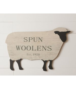 Sign - Spun Woolens Sheep