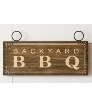 Sign - Backyard BBQ12.25 H x 23.75 W x 0.5 D in.