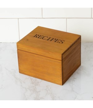 Recipe Box with Cards