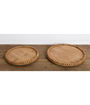 Round Beaded Trays