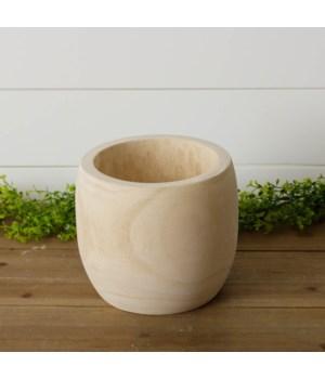 Paulownia Wood Carved Planter