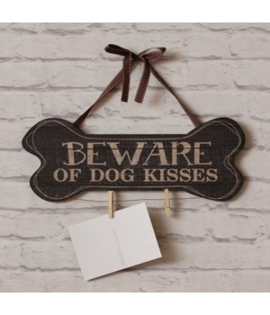 Beware Of Dog Kisses Wall Art 6 in. x 16 in.