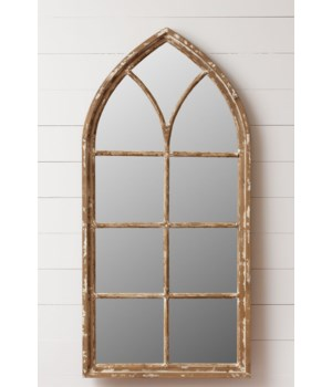 Cathedral Mirror - Wood