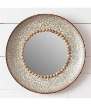 Mirror - Round with Beading