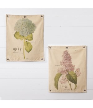 Canvas Wall Hanging - Hydrangea and Lilac