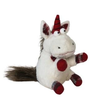 Lg Plush Plaid Unicorn