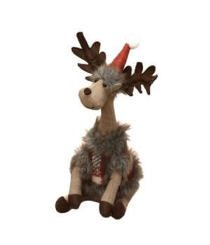 Sitting Plush Long Neck Reindeer