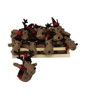 12 pc Plush Moose Ornament w/Crate