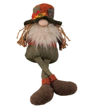 Dangle Leg Plush Scarecrow Gnome
