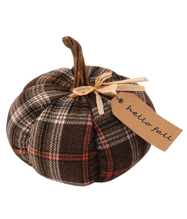 Med Plush Plaid Harvest Pumpkin