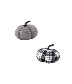2 Asst Med Plush Pumpkin
