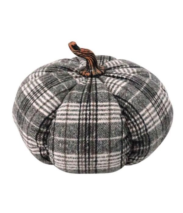 Lg Plush Plaid Pumpkin