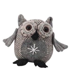 Sm Plush Grey Owl
