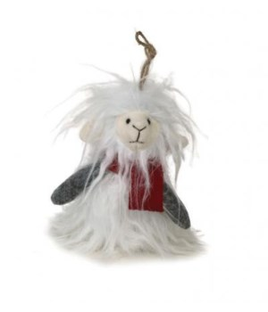 Plush Furry Llama Ornament