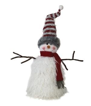 Plush Furry Snowman