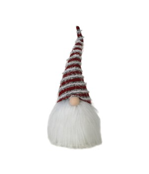 Plush Santa Gnome w/Striped Hat