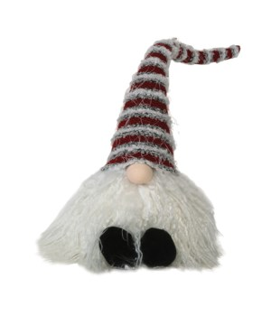 Sitting Plush Striped Santa Gnome