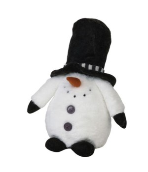 Sm Plush Black Hat Snowman