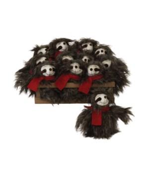 12 pc Plush Sloth Ornament w/Crate
