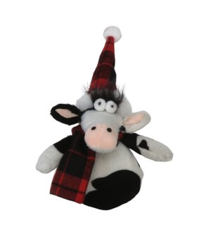 Plush Cow Ornament