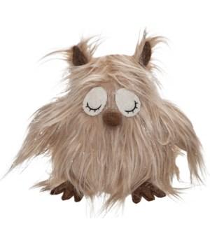 Fabric Owl with Long Hair