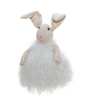 White Fabric Rabbit
