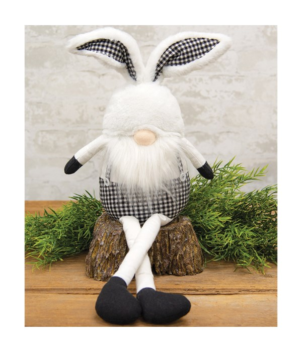 Fabric Sitting Gnome with Rabbit Ears
