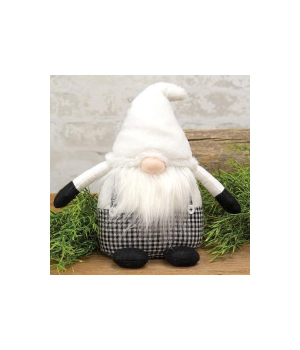 Fabric Sitting Gnome with Fat Body
