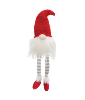 Dangle Leg Santa Gnome w/LED Light