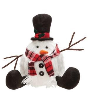 Sitting Snowman