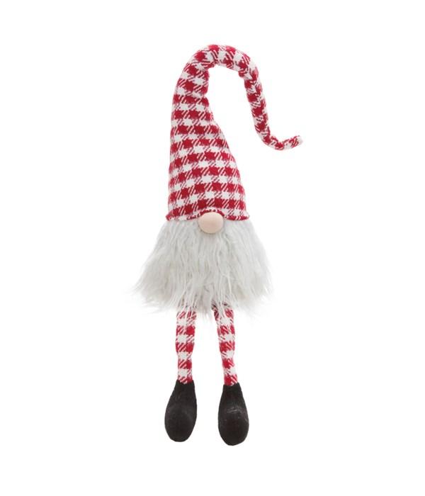 Dangle Leg Red/White Santa Gnome
