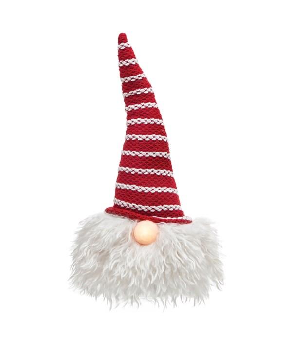 Med Santa Gnome w/LED Light Nose