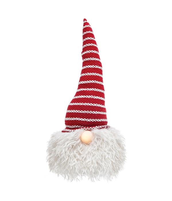 Lg Santa Gnome w/LED Light Nose